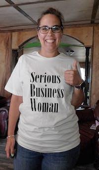 Serious Business Woman T-Shirt-FINAL SALE