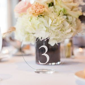 Round Table Numbers with stand