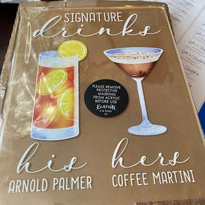 Bar Menu Signature Drinks! - Bar Menu Sign, Bar Sign for wedding and special events.