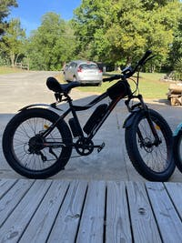 Fat Tire Electric Bike Ecotric Rocket Cruiser Bike with Front Suspension