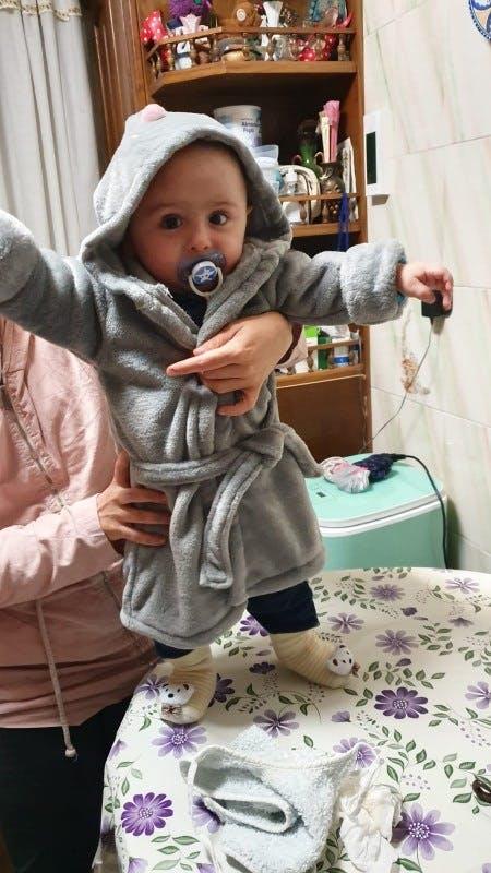 Adorable Hooded Baby Bath Robe