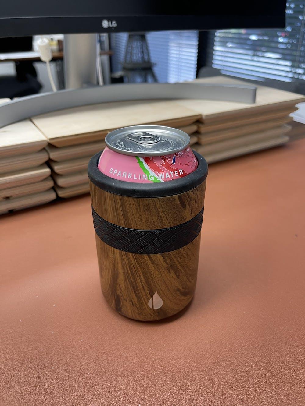Recess 12oz Regular Can Cooler - Teak Wood