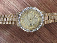 Stunna Man Large Diamond ICED-Out Waterproof Mens Watch