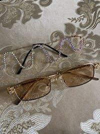 G.Gee Diamond Luxury Steampunk LensLess Frames