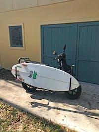 Surfboard Moped Rack | Dual-Mount - Holds Longboards