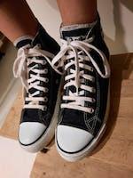 Sneakers Hitops Black & White Organic Fairtrade