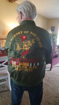 I Am A Vietnam Veteran I Love Freedom I Wore Dogtags I Have A DD-214 over print jacket