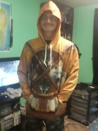 4 WOLVES DREAM CATCHER NATIVE OVER PRINT HOODIE