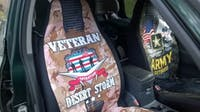 Operation Desert Storm Veteran car seat cover