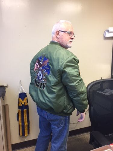 UNITED STATES NAVY SINCE 1775 ONCE A SAILOR ALWAYS A SAILOR EMBROIDERED JACKET