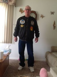 US Coast Guard Proud To Have Served Veteran OVER PRINT jacket