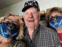 Us Navy Camo Proud Daughter Of A Us Navy Veteran U.S Navy Funny Face Mask Gift