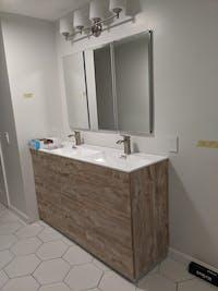 """KubeBath Milano 60"""" Double Sink Floor Mount Modern Bathroom Vanity KFM60D"""