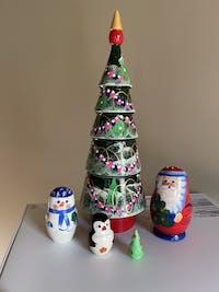 Matryoshka doll green Christmas tree