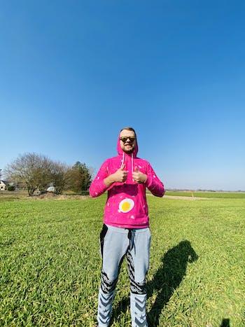 "Unisex džemperis su gobtuvu ""Šaltemperis"" (su kiaušiniu) (foodroobai MAX)"