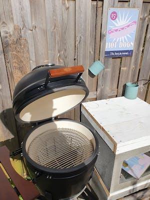"""Large Kamado BBQ 21"""", Grill Bill Pro II"""