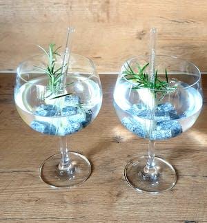 Aperol Spritz Sprüche gravierte Glasstrohhalme mit 6 lustigen Trinksprüchen