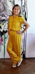 Casual mustard jumpsuit