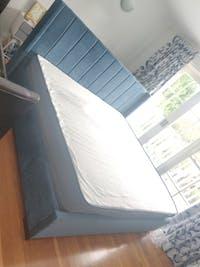 *NEW* Bed Frame and Mattress Bundle (Super King, King, Queen) - Mayfair Velvet Blue
