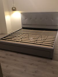 *NEW* Storage Bed Frame with Drawer (Super King, King, Queen) - Brooklyn Storage