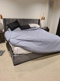 Bed Frame and Mattress Bundle (Super King, King, Queen) - Mayfair Velvet Charcoal