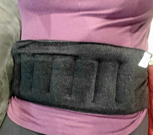 Huggaroo Microwavable Heating Pad - Wearable Back Wrap