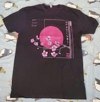 Sunset LOFI Sakura - Vaporwave T-Shirt
