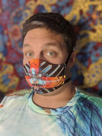 Racer by Fractaled Visions: Art Print Face Mask