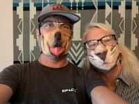 Chico Children's Museum Kitten: Art Print Face Mask- Adult