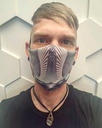 Flutter by Jerimiah Welch: Art Print Face Mask- Adult
