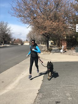 Runner's Choice Hands-Free Dog Leash (with belt)