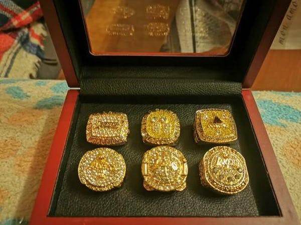 Kobe Bryant Los Angeles Lakers Basketball Championship Ring Set