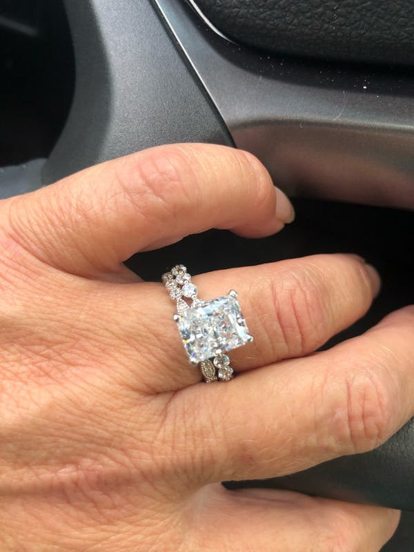 Lab Created Diamond Engagement Ring Set