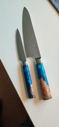 Set de 2 couteaux - Série Mer Jaune