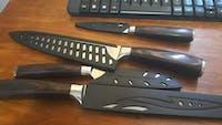 Set de 3 couteaux type Japonais - Chef Tanaka - Forest Wood