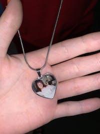 Memorial Photo Heart Necklace