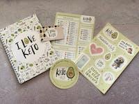 KIT I LOVE KETO (imanes de carbohidratos, cuaderno y pegatinas)