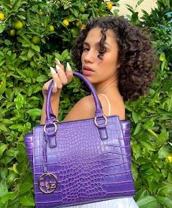 Indigofera Veneer Handbag