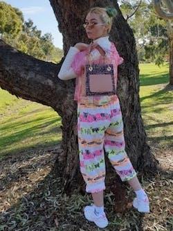 Paeony Blush Tweed Handbag