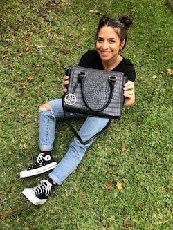 Bravia Onyx Handbag