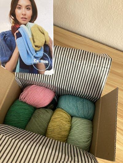 Strickpaket Ecopuno Streifen-Schal
