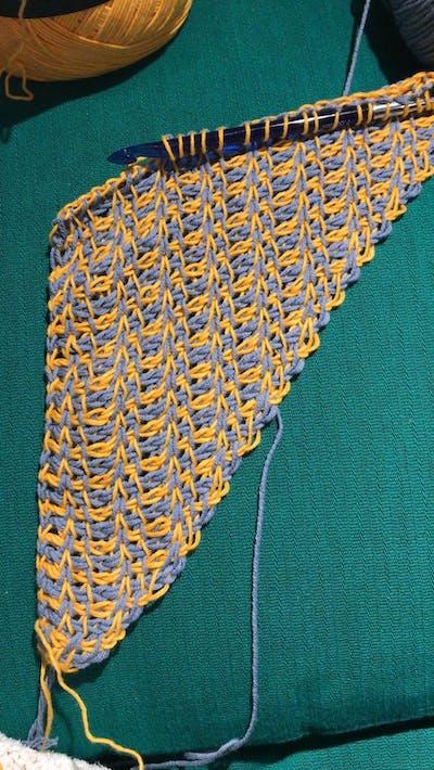 Tunisch Haakpakket Summer Around the Corner CAL2019 - de katoenen sjaal