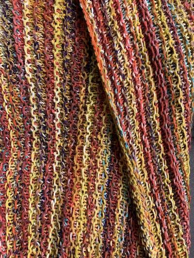 Breipakket kleurrijke Pappagallo sjaal