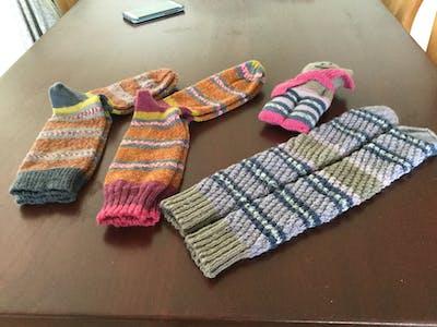 Sokkenwol Meilenweit Oslo Socks Box 501 roze, beige, grijs, petrol