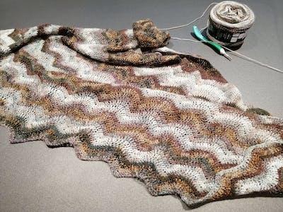 Inspiratiepakket sjaals haken a la Sascha - zijwaartse chevron Gioia