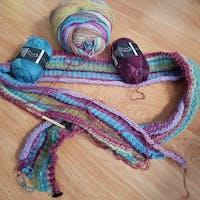 Tunisch haakpakket Eye Candy Sjaal - met GRATIS patroon