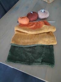 Breipakket Ecopuno Colorblock sjaal - Nu OOK om te HAKEN!
