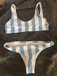 3 Colours Striped Brazilian Bikini Set Trend 2019