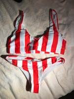 3 Colours Striped Brazilian Bikini Set Trend 2020