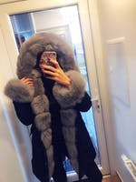 Camouflage Winter Jacket Fox Fur many Colours